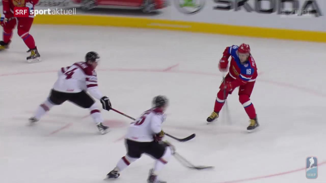 Eishockey: Russen und Weissrussen stark