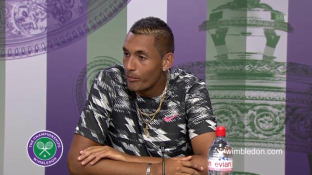 Video «Tennis: Wimbledon, Pressekonferenz mit Nick Kyrgios» abspielen