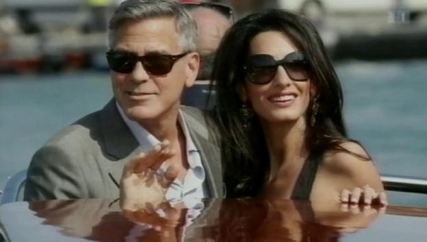 Video «George Clooneys Hochzeit in Venedig» abspielen