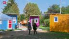 Video «Zweites Obdachlosen-Dorf in Genf eröffnet» abspielen