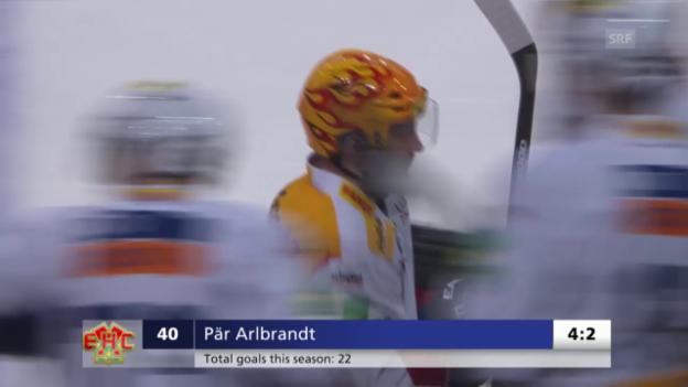 Video «Eishockey: Playoff-Viertelfinals ZSC Lions-Biel, Spiel 7, Tor Arlbrandt» abspielen