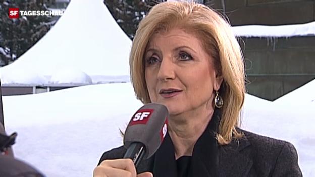 Video «Arianna Huffington zu Gast am WEF 2012» abspielen