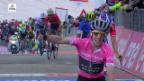 Video «Leader Yates gewinnt 9. Giro-Etappe» abspielen
