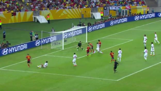 Video «Die 10 Tore der Spanier gegen Tahiti» abspielen