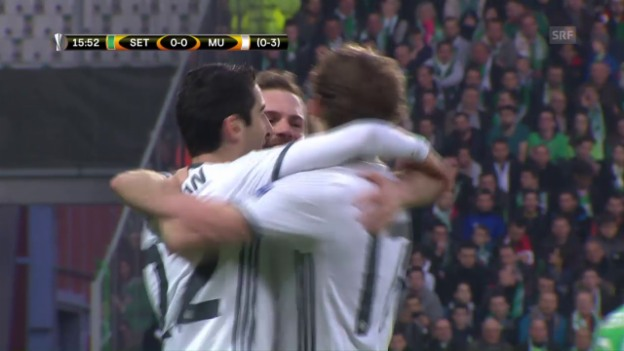 Video «Highlights St. Etienne - Manchester United» abspielen
