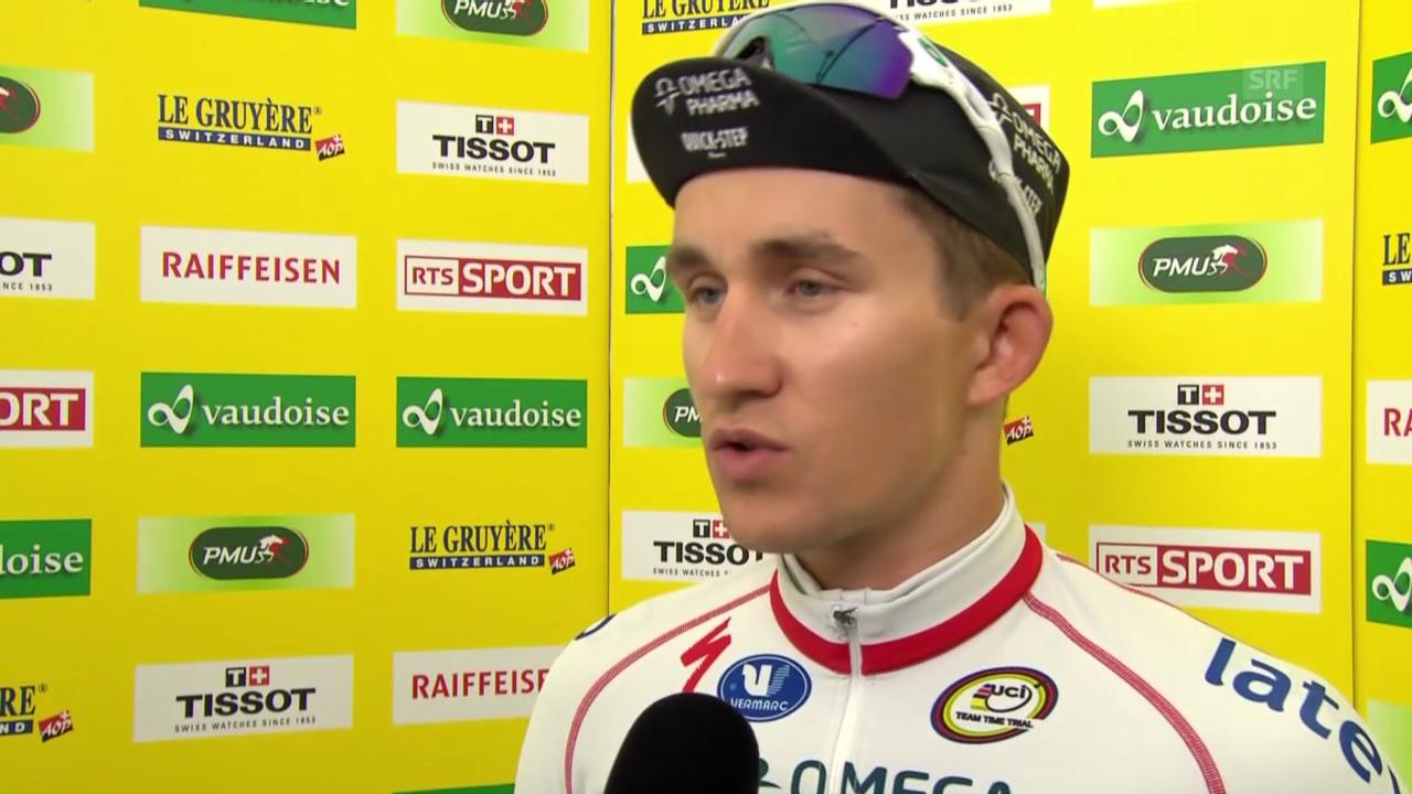 Rad: Tour de Romandie, Prolog, Interview mit Michal Kwiatkowski (englisch)