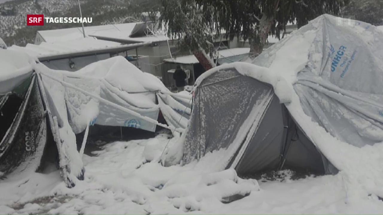Flüchtlinge leben in Zeltlager