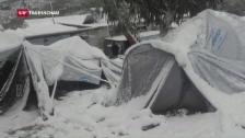 Video «Flüchtlinge leben in Zeltlager» abspielen