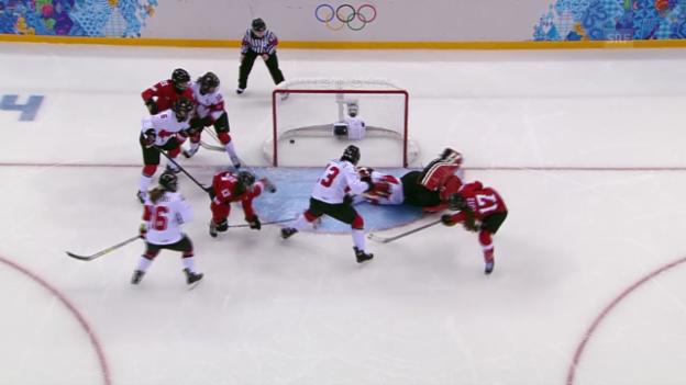 Video «Eishockey Frauen: Zusammenfassung Kanada- Schweiz (sotschi direkt, 17.02.2014)» abspielen