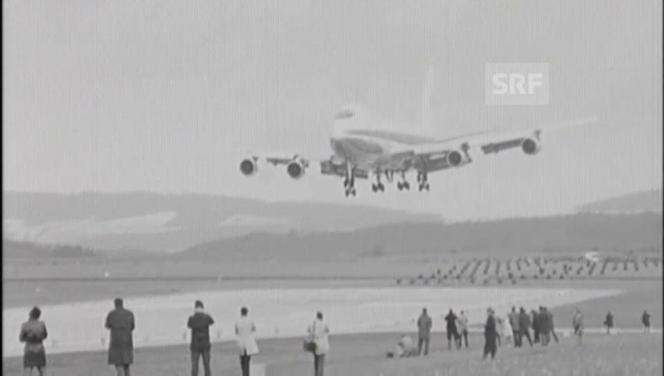 1970: Erstmals landet Jumbo in der Schweiz