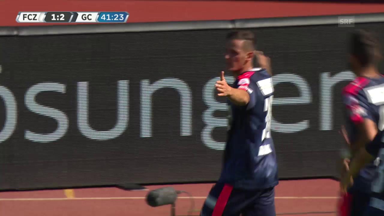 Fussball: FCZ-GC, 2 Tore Tarashaj