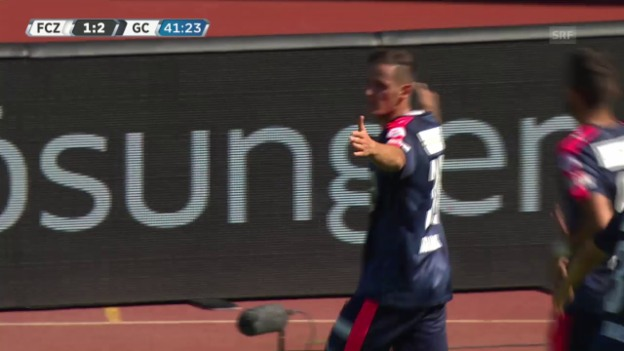 Video «Fussball: FCZ-GC, 2 Tore Tarashaj» abspielen