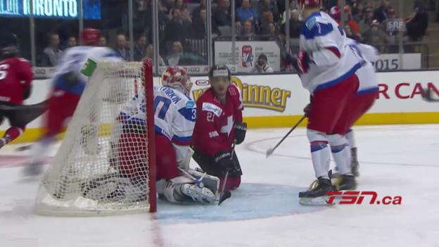 Video «Eishockey: U20-WM, Schweiz - Russland» abspielen