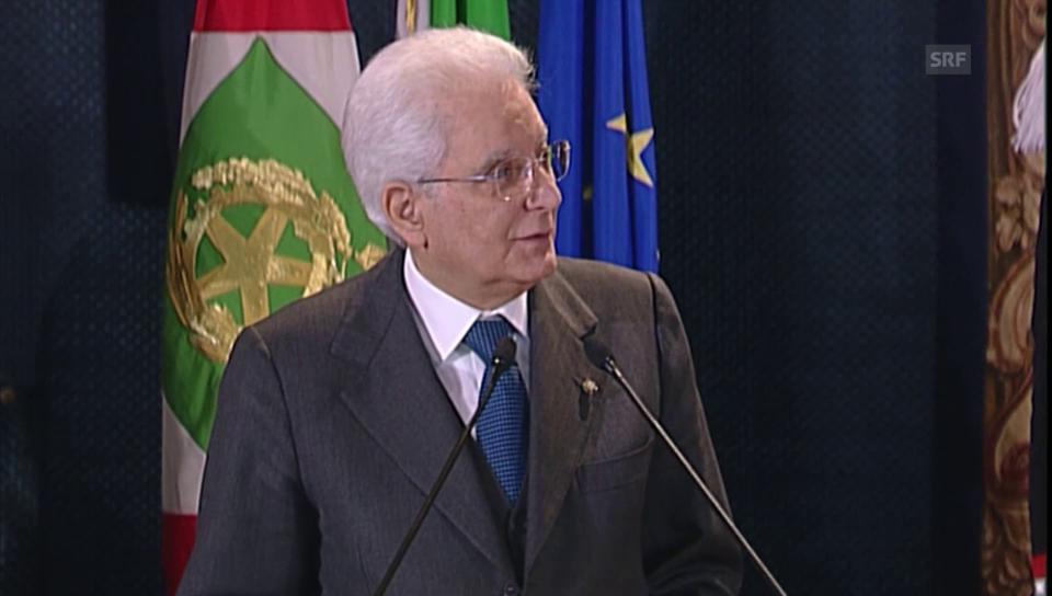 Italiens Präsident Matarella zum Tod Hunderter Migranten (ital.)