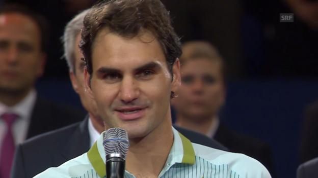 Video «Federer: «Es war eine gute Woche»» abspielen