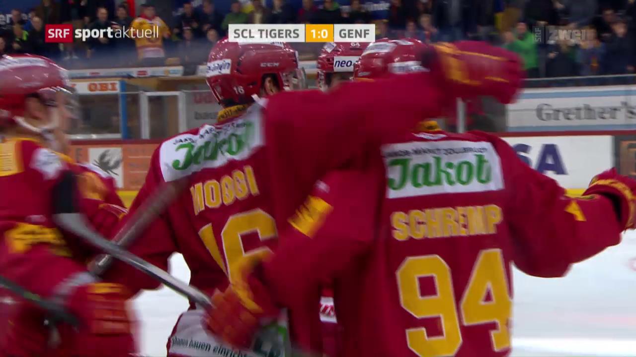 Die SCL Tigers besiegen Genf-Servette