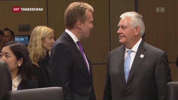 Video «Lawrow und Tillerson beraten über Ukraine-Krise» abspielen