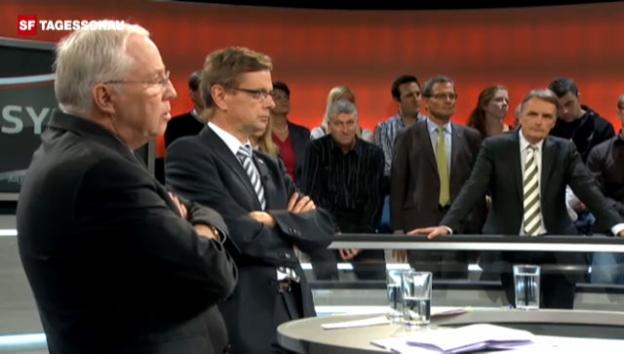 Video «Tschümperlin konfrontiert Blocher zum Botschaftsverfahren» abspielen