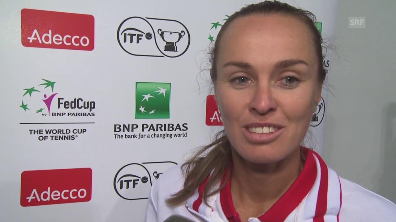 Tennis: Fed Cup, Martina Hingis im Interview
