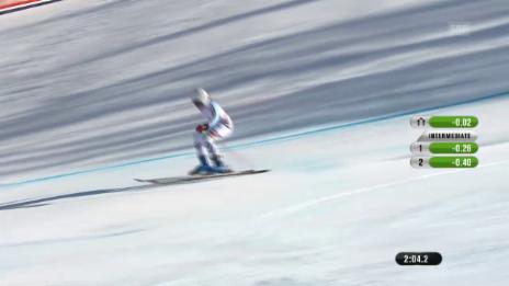 Video «Ski-WM Vail/Beaver Creek, RS Frauen, 2. Lauf Rebensburg» abspielen