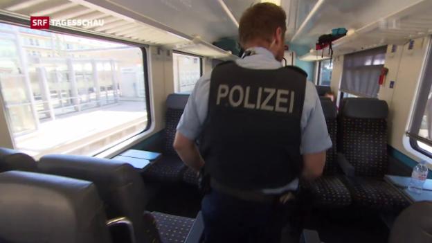 Video «Kantonspolizisten zur Verstärkung an der Grenze» abspielen