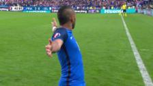 Video «Giroud, Pogba, Payet, Griezmann – Frankreich führt zur Pause 4:0» abspielen