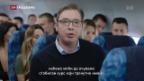 Video «Aleksandar Vučić Favorit bei serbischen Präsidentschaftswahlen» abspielen