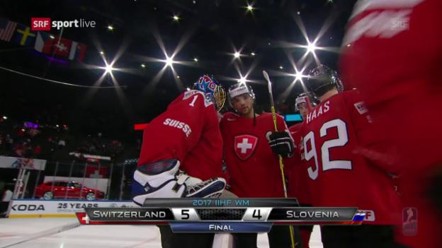 Video «Die Tore bei Schweiz - Slowenien» abspielen