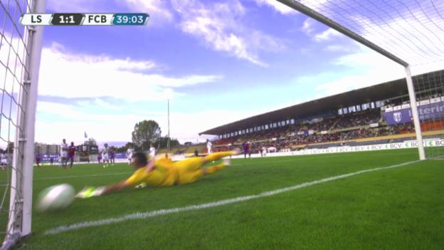 Video «Mohamed Salahs kurioser Ausgleichstreffer gegen Lausanne («sportlive»)» abspielen