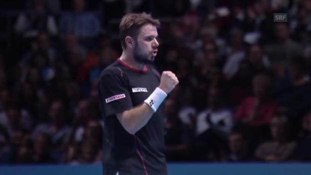 Video «Tennis: Zusammenfassung Wawrinka - Ferrer» abspielen