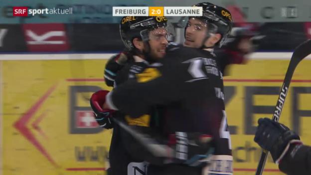 Video «Freiburg qualifiziert sich dank einem Heimsieg gegen Lausanne für die Playoffs» abspielen