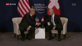 Video «Trumps zweiter Tag und Abschlussrede am WEF» abspielen