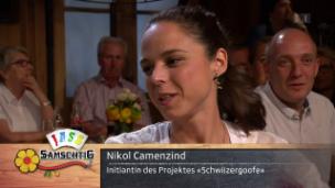 Video «Gespräch mit den «Schwiizergoofe» und Nikol Camenzind» abspielen