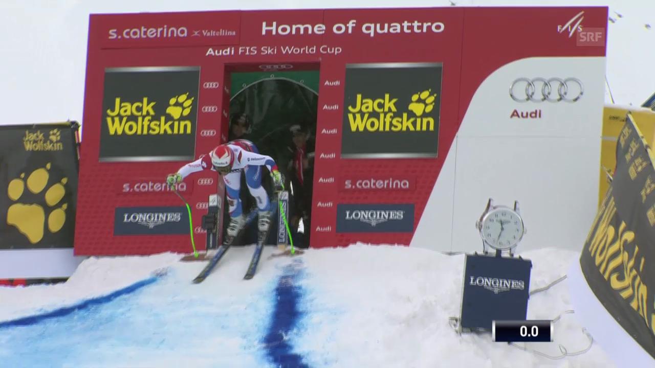Ski: Abfahrt Männer Santa Caterina, Fahrt von Sandro Viletta