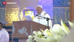 Video «Der Papst auf den Spuren seiner Vorgänger» abspielen
