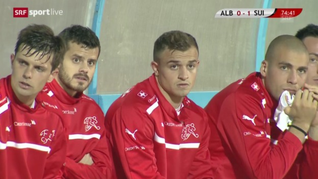 Video «Fussball: Xherdan Shaqiri im Spiel gegen Albanien («sportlive»)» abspielen