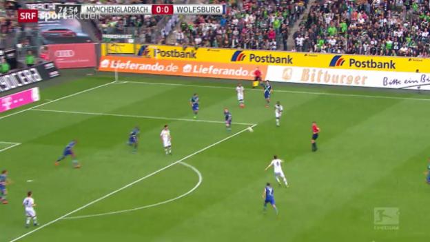 Video «Fussball: Bundesliga, Mönchengladbach - Wolfsburg» abspielen