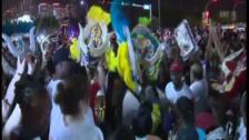 Video «Jubelszenen auf den Strassen von Miami (unkomm.)» abspielen