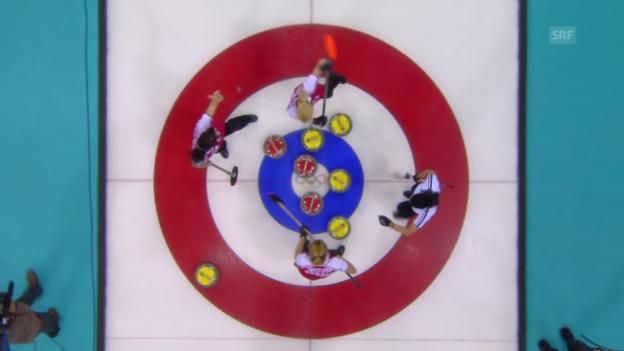 Video «Curling: Zusammenfassung Schweiz - Russland (14.02.14)» abspielen