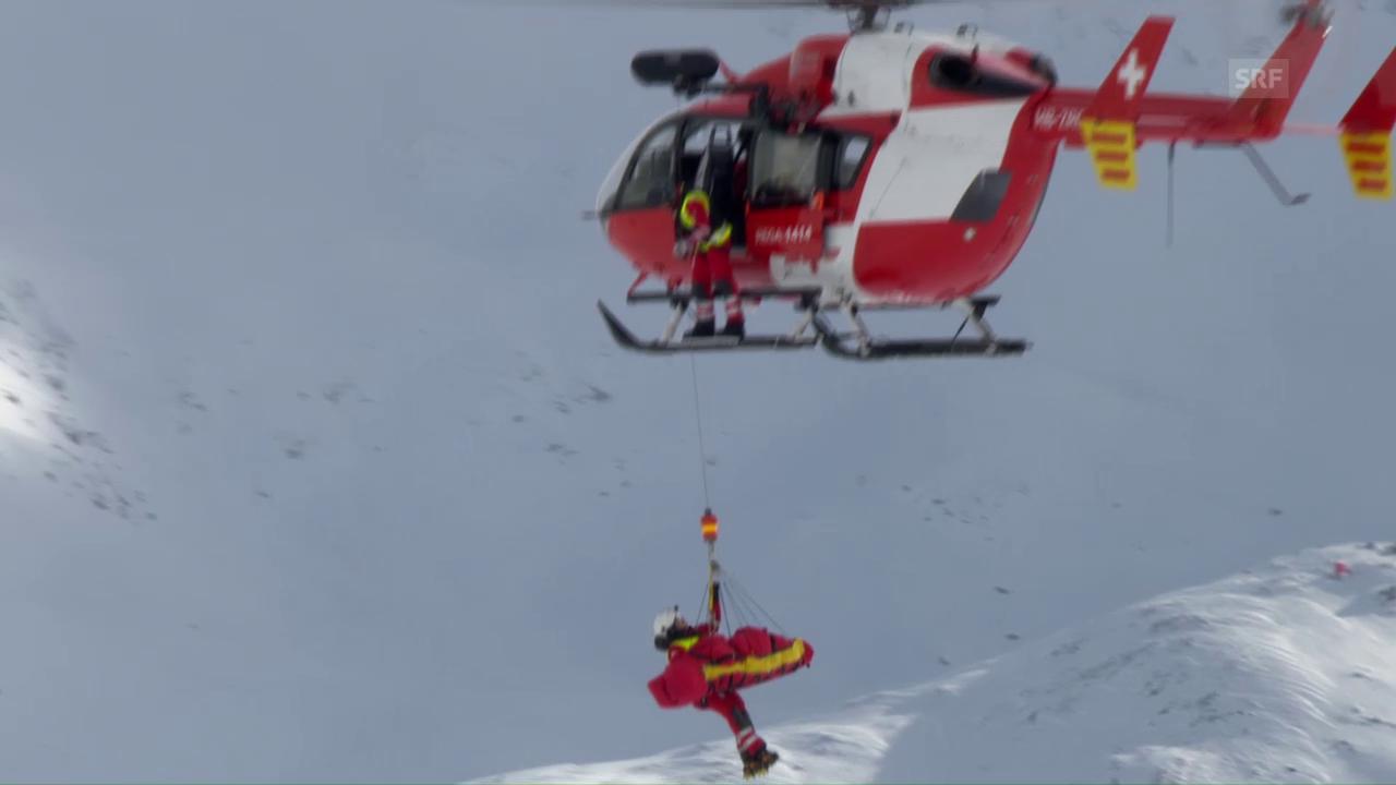 Puchner muss mit dem Helikopter abtransportiert werden