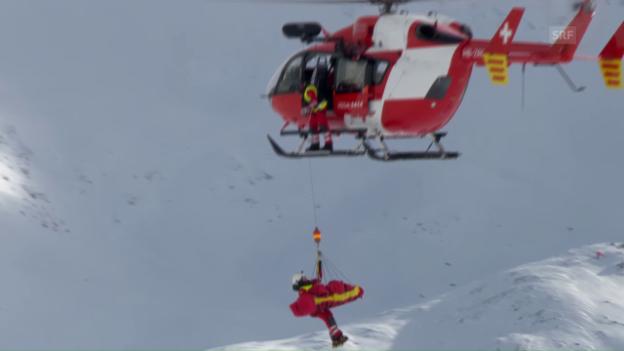 Video «Puchner muss mit dem Helikopter abtransportiert werden» abspielen