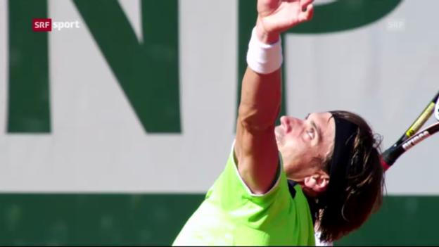Video «Ferrer locker im Halbfinal («sportaktuell»)» abspielen