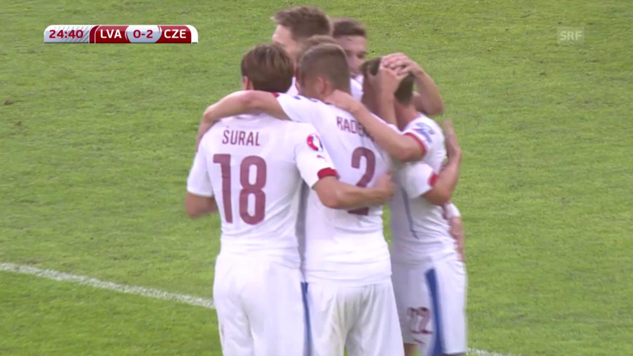 EURO-Quali: Tore Lettland-Tschechien