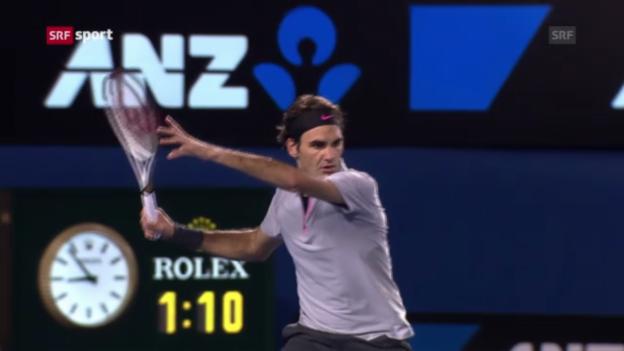 Video «Federer - Tsonga («sportaktuell»)» abspielen