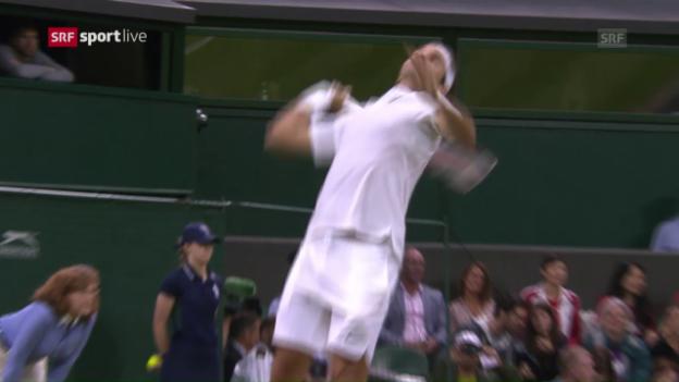 Video «Zusammenfassung Federer - Evans» abspielen