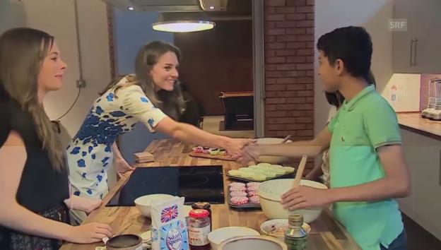 Video «William und Kate im Jugendreff» abspielen