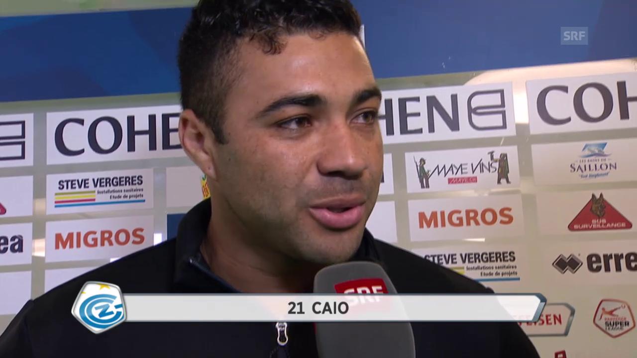 Fussball: Super League, 26. Runde, Sion – GC, Interview Caio