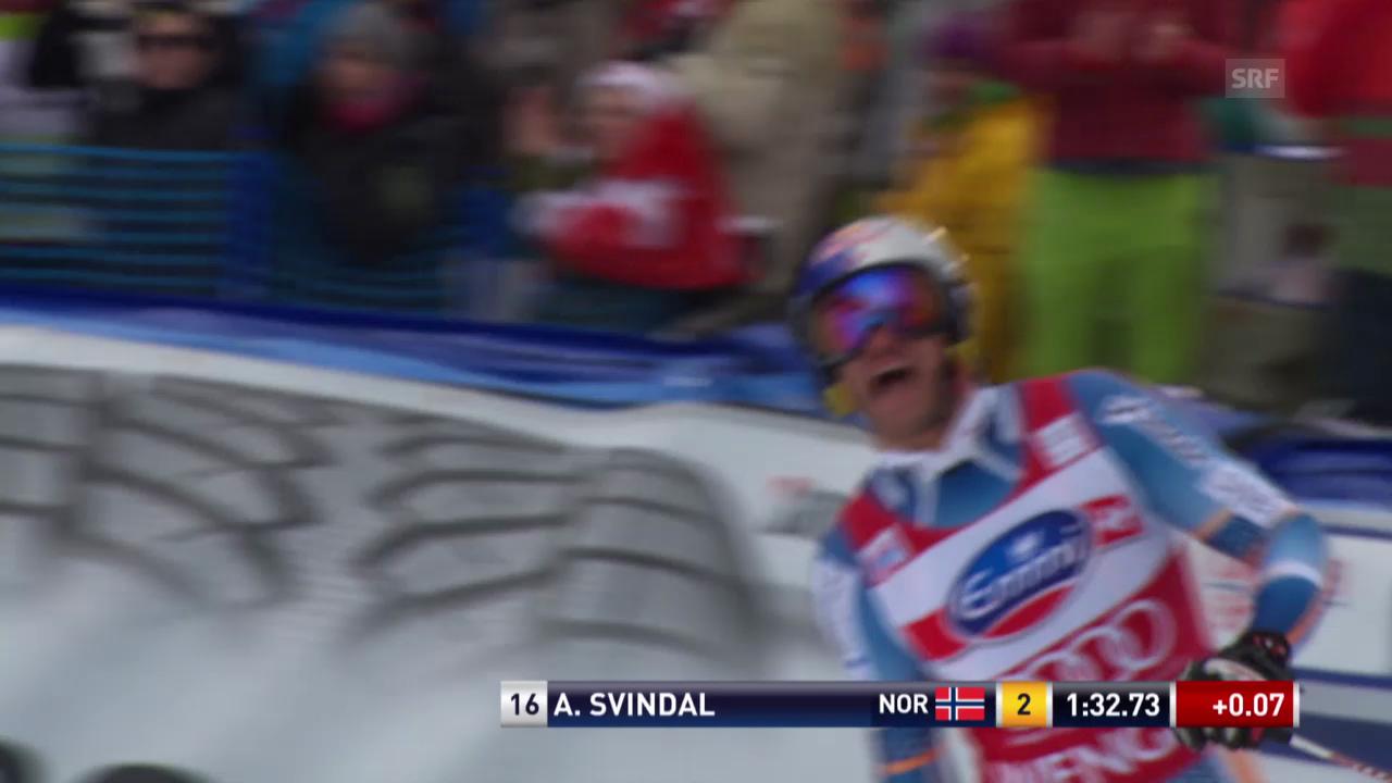 Ski: Abfahrt Wengen 2014, Fahrt von Aksel Svindal