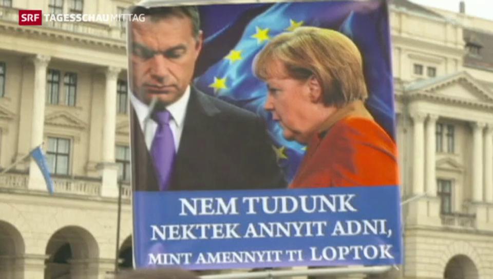Angela Merkel in Budapest