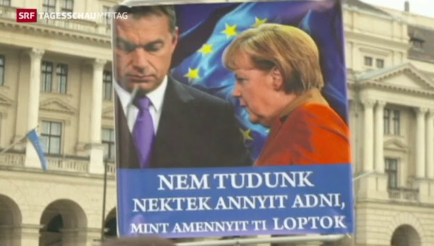 Video «Angela Merkel in Budapest» abspielen